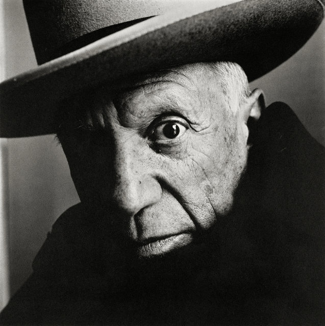 Pablo Picasso at La Californie, Cannes, 1957. (Photo by The Irving Penn Foundation/The Guardian)