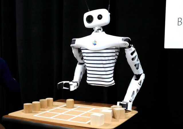 """""""Reachy"""", an open-source robot by Pollen Robotics, displayed at CES Unveiled during the 2020 CES in Las Vegas, Nevada, U.S. January 5, 2020. (Photo by Steve Marcus/Reuters)"""