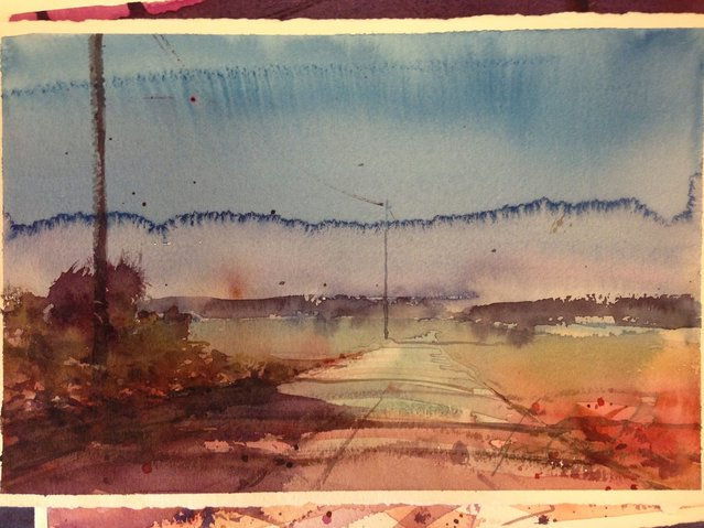 Watercolor Painting By Bjorn Bernstrom