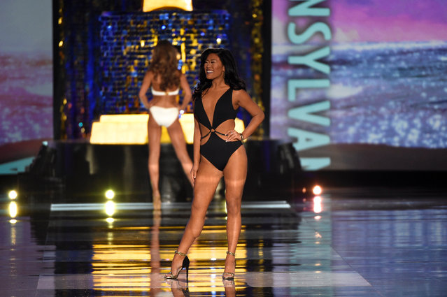 Miss Pennsylvania Katie Scheckengast competes in the swimsuit competition of the 97th Miss America Competition in Atlantic City, New Jersey U.S. September 10, 2017. (Photo by Mark Makela/Reuters)
