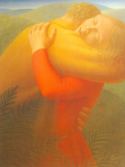 Embrace I. Artwork by George Tooker