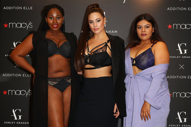 Ashley Graham poses as she brings her latest lingerie collection to Macy's South Coast Plaza at Macy's South Coast Plaza on November 30, 2017 in Costa Mesa, California. (Photo by Joe Scarnici/Getty Images)