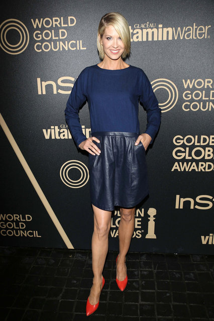 Actress Jenna Elfman arrives at The Hollywood Foreign Press Association And InStyle Miss Golden Globe 2013 Party at Cecconi's Restaurant on November 29, 2012 in Los Angeles, California. (Photo by Jon Kopaloff/FilmMagic)