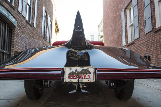 The 1963 Batmobile is shown in this photo released by Heritage Auctions, HA.com December 5, 2014. The earliest known officially licensed car of comic book superhero Batman is up for auction on Saturday. The 1963 Batmobile is believed to be the first custom car to be licensed as Batman's swanky ride and could fetch up to $500,000, according to officials with Dallas-based Heritage Auctions. The opening bid is $90,000. (Photo by Reuters/Heritage Auctions)