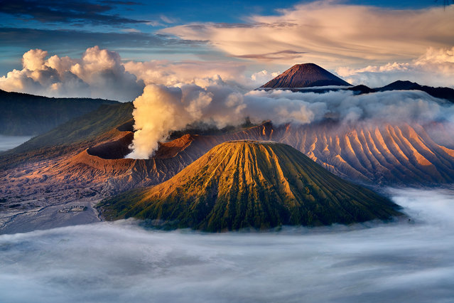 "Myanmar national award second-place winner: Kyaw Win Hlaing. ""Mount Bromo is an active volcano in East Java, Indonesia. The name Bromo derives from the Javanese pronunciation of Brahma, the Hindu creator god"". (Photo by Kyaw Win Hlaing/Sony World Photography Awards 2018)"