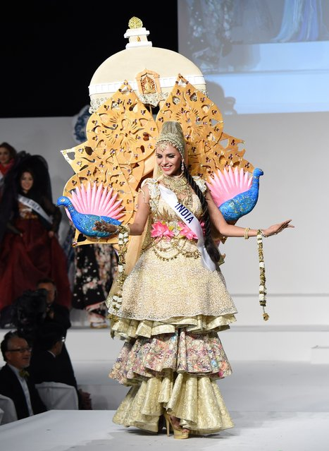 Miss India Supriya Aiman displays her national costume during the Miss International beauty pageant in Tokyo on November 5, 2015. (Photo by Toru Yamanaka/AFP Photo)
