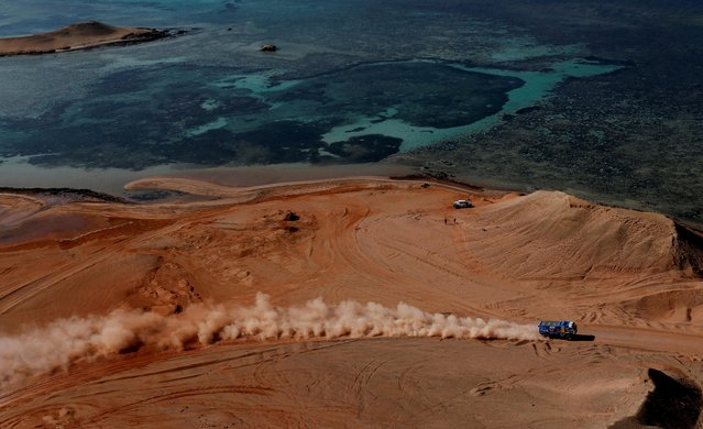 General view during Dakar Rally stage 9, Neom to Neom, Saudi Arabia on January 12, 2021. (Photo by Hamad I Mohammed/Reuters)