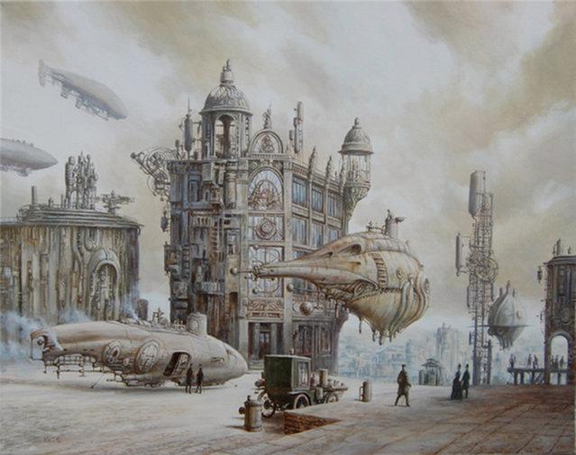 Steampunk World By Vadim Voitekhovitch
