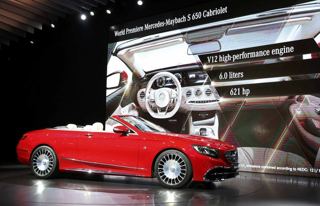 Mercedes introduces the 2017 Mercedes-Maybach S 650 Cabriolet at the 2016 Los Angeles Auto Show in Los Angeles, California, U.S November 16, 2016. (Photo by Lucy Nicholson/Reuters)