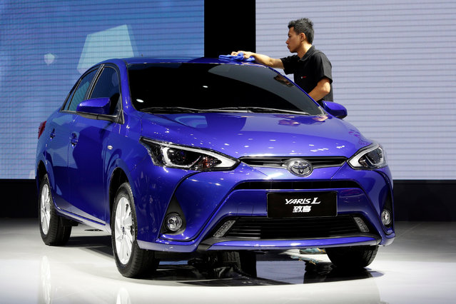 A Yaris L by Toyota is displayed at China (Guangzhou) International Automobile Exhibition in Guangzhou, China November 18, 2016. (Photo by Bobby Yip/Reuters)