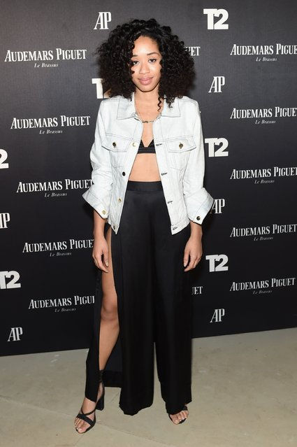 "Kitty Cash attends the Miami Beach Kickoff Party at Audemars Piguet Art Commission ""Reconstruction Of The Universe"" by Sun Xun hosted by Take-Two Interactive at Oceanfront Miami Beach on November 30, 2016 in Miami, Florida. (Photo by Jamie McCarthy/Getty Images for Take-Two Interactive)"