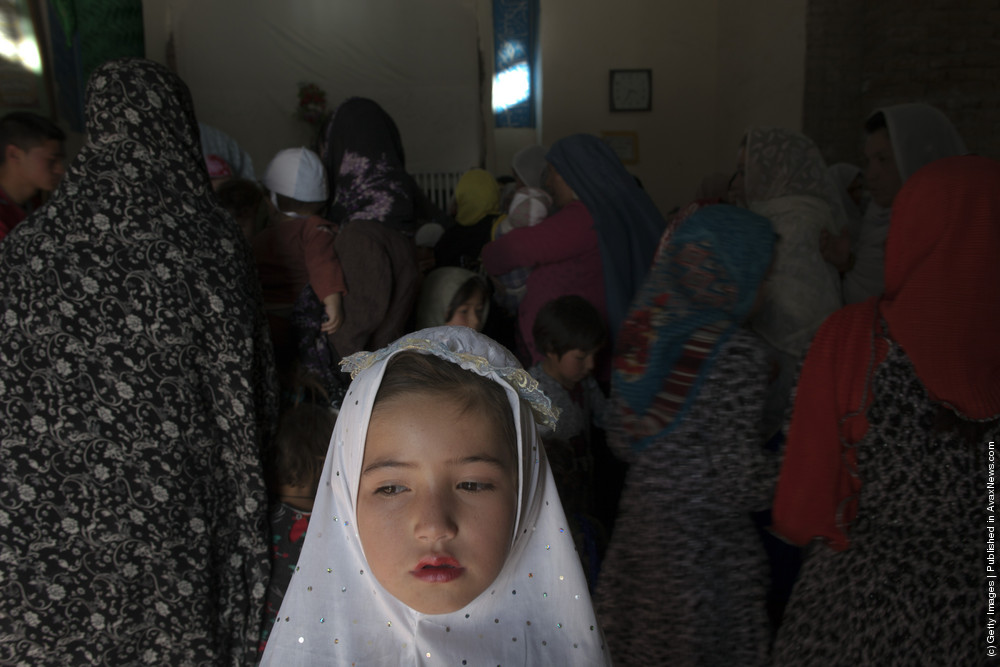 Afghan Women Attend Friday Prayers In Kabul