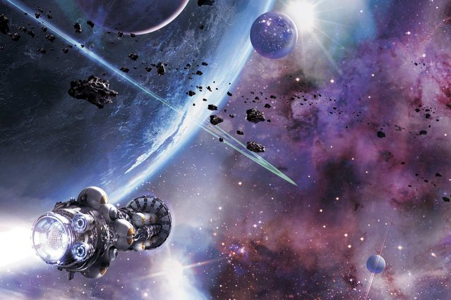 Will humans ever travel to the stars? Tim Folger considers the question in the January issue of National Geographic magazine, which kicked off our 125th anniversary year's theme of exploration. (Art by Stephan Martiniere/National Geographic)
