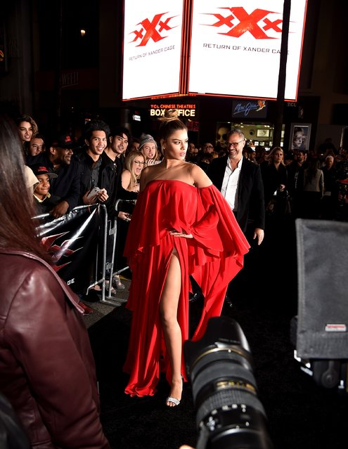 """Actress Ariadna Gutierrez arrives at the premiere of Paramount Pictures' """"xXx: Return of Xander Cage"""" at the Chinese Theatre on January 19, 2017 in Los Angeles, California. (Photo by Kevin Winter/Getty Images)"""