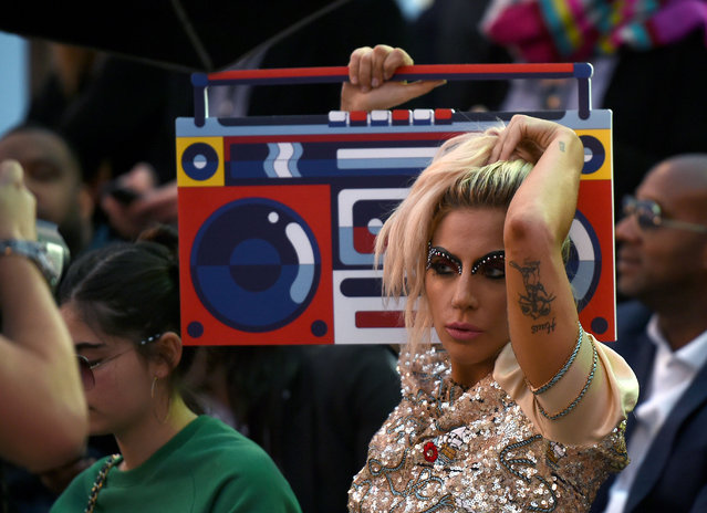 Singer Lady Gaga attends the TommyLand Tommy Hilfiger Spring 2017 Fashion Show on February 8, 2017 in Venice, California. (Photo by Michael Buckner/WWD/Rex Features/Shutterstock)
