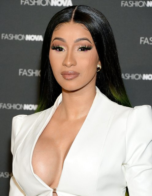 Cardi B is seen as Fashion Nova Presents: Party With Cardi at Hollywood Palladium on May 9, 2019 in Los Angeles, California. (Photo by Broadimage/Shutterstock)