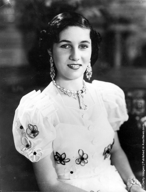 1938:  Princess Fawzieh, sister of King Farouk of Egypt, who married the Crown Prince of Iran in 1939