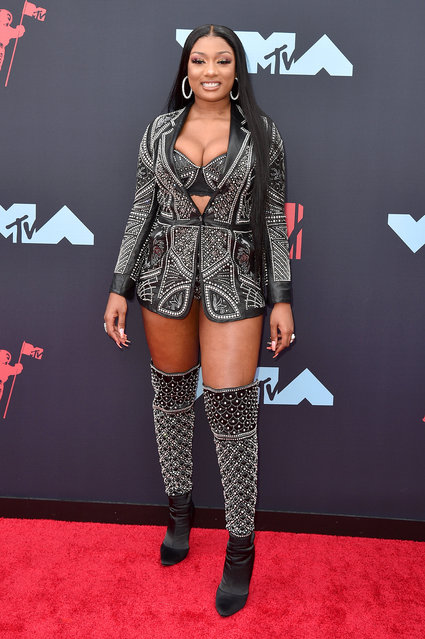 Megan Thee Stallion attends the 2019 MTV Video Music Awards at Prudential Center on August 26, 2019 in Newark, New Jersey. (Photo by Bryan Bedder/WireImage)
