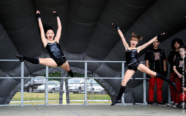 Dance Team Rage Crew perform at BAFTA LA's 6th Annual Christmas Party and Toy Drive at Helen Keller Park