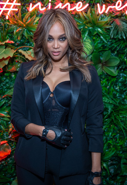 TV Personality Tyra Banks attends the Nine West Pop-Up Experience on October 23, 2019 in New York City. (Photo by Mark Sagliocco/Getty Images)