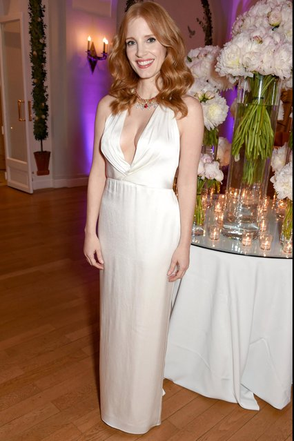 Jessica Chastain attends the Vanity Fair and HBO Dinner celebrating the Cannes Film Festival at Hotel du Cap-Eden-Roc on May 20, 2017 in Cap d'Antibes, France. (Photo by David M Benett/Dave Benett/Getty Images for Vanity Fair)