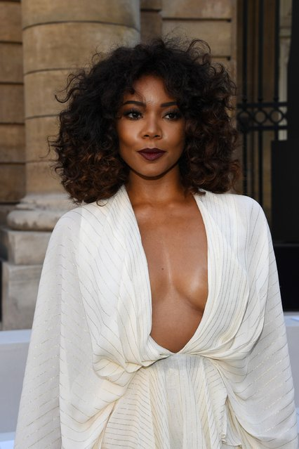 Gabrielle Union attends the Berluti Menswear Spring/Summer 2018 show as part of Paris Fashion Week on June 23, 2017 in Paris, France. (Photo by Pascal Le Segretain/Getty Images)