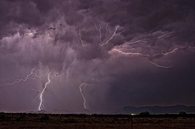 Monsoon storm crossing the Whetstone and Mustang Mountians outside of Whetstone, AZ. 28 June, 2012
