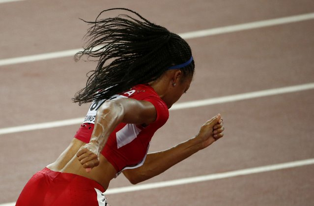 Allyson Felix of U.S. at the start of the women's 400 metres semi-final during the 15th IAAF World Championships at the National Stadium in Beijing, China August 25, 2015. (Photo by David Gray/Reuters)