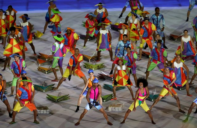Dancers preform during the Opening Ceremony of the Rio 2016 Paralympic Games at Maracana Stadium on September 7, 2016 in Rio de Janeiro, Brazil. (Photo by Matthew Stockman/Getty Images)