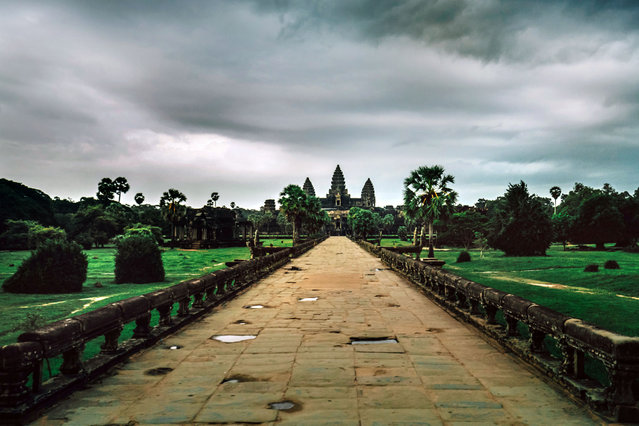 Angkor Wat before the storm. (Photo by Alex Teuscher/Caters News)