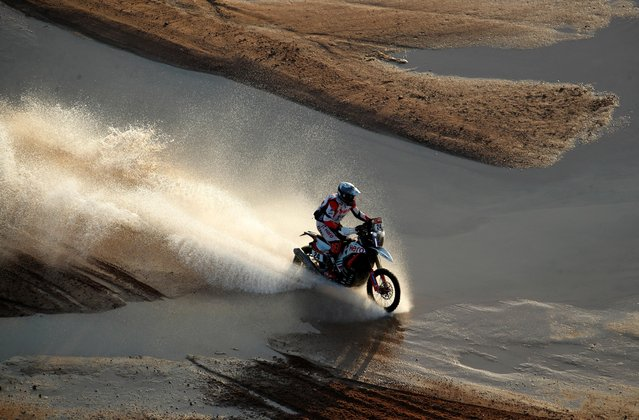 Hero Motosports Team Rally's Sebastian Buhler in action during stage 9, Neom to Neom, Saudi Arabia on January 12, 2021. (Photo by Hamad I Mohammed/Reuters)
