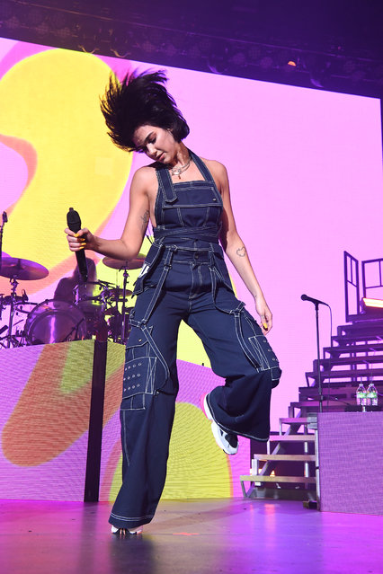 Singer Dua Lipa performs onstage at Coca Cola Roxy on June 9, 2018 in Atlanta, Georgia. (Photo by Paras Griffin/Getty Images)
