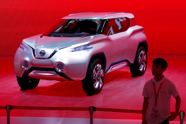A fuel cell electric vehicle (FCEV) by Nissan is shown at China (Guangzhou) International Automobile Exhibition in Guangzhou, China November 18, 2016. (Photo by Bobby Yip/Reuters)