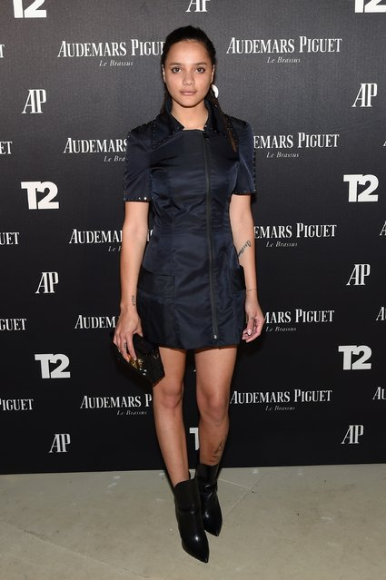 "Sasha Lane attends the Miami Beach Kickoff Party at Audemars Piguet Art Commission ""Reconstruction Of The Universe"" by Sun Xun hosted by Take-Two Interactive at Oceanfront Miami Beach on November 30, 2016 in Miami, Florida. (Photo by Jamie McCarthy/Getty Images for Take-Two Interactive)"