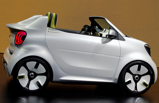 The Smart Forease is on display at the Auto show in Paris, France, Tuesday, October 2, 2018, 2018. (Photo by Regis Duvignau/Reuters)