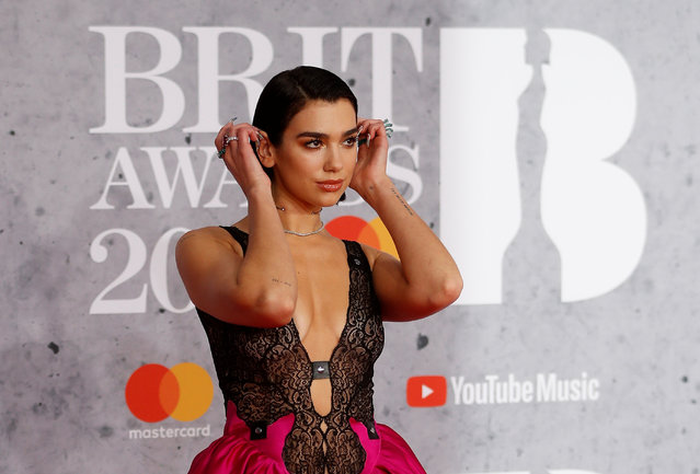 Dua Lipa arrives for the Brit Awards at the O2 Arena in London, Britain, February 20, 2019. (Photo by Peter Nicholls/Reuters)