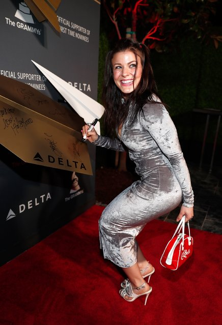 Dancer/choreographer Janelle Ginestra attends Delta Air Lines official Grammy event featuring private performance and interactive evening with Halsey at Beauty & Essex, adjacent to the new Dream Hollywood to celebrate the 59th Annual GRAMMY Awards on February 9, 2017 in Los Angeles, California. (Photo by Rich Polk/Getty Images for Delta Air Lines)