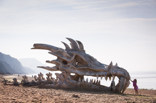 Giant Dragon Skull For Promotion Game Of Thrones