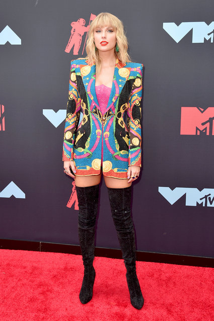 Taylor Swift attends the 2019 MTV Video Music Awards at Prudential Center on August 26, 2019 in Newark, New Jersey. (Photo by Bryan Bedder/WireImage)