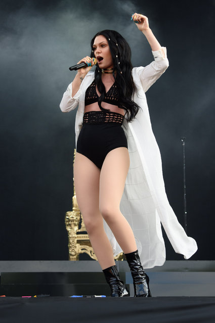 British singer Jessie J performs on the main stage at Wireless festival in Finsbury Park, London, Sunday, July 5, 2015. (Photo by Jonathan Short/Invision/AP Photo)