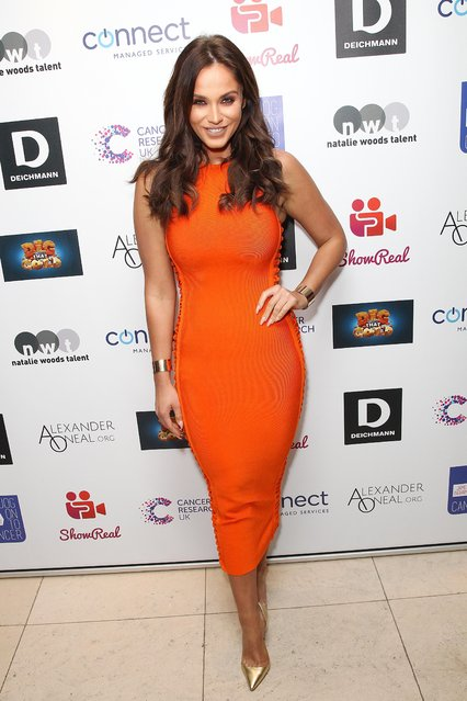 Vicky Pattison attends James Ingham's Jog-On to Cancer part 5 at Kensington Roof Gardens on April 12, 2017 in London, England. (Photo by Fame Flynet)
