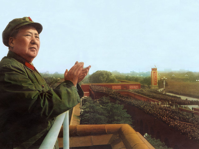 Mao Tse Toung (1893-1976) chinese president here during review of army of The Great Proletarian Cultural Revolution in Pekin on November 3, 1967  (Photo by Apic/Getty Images)