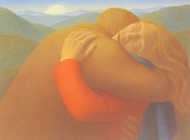 Embrace II. Artwork by George Tooker
