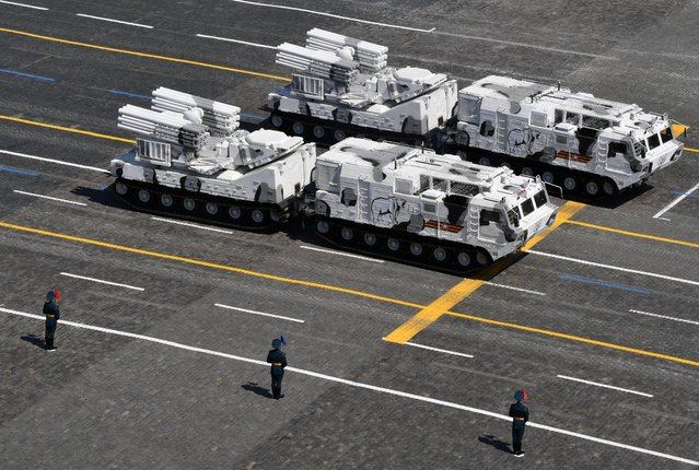 Russian Pantsir-SA missile and artillery weapon systems drive during the Victory Day Parade in Red Square in Moscow, Russia, June 24, 2020. (Photo by Evgeny Biyatov/Host Photo Agency via Reuters)