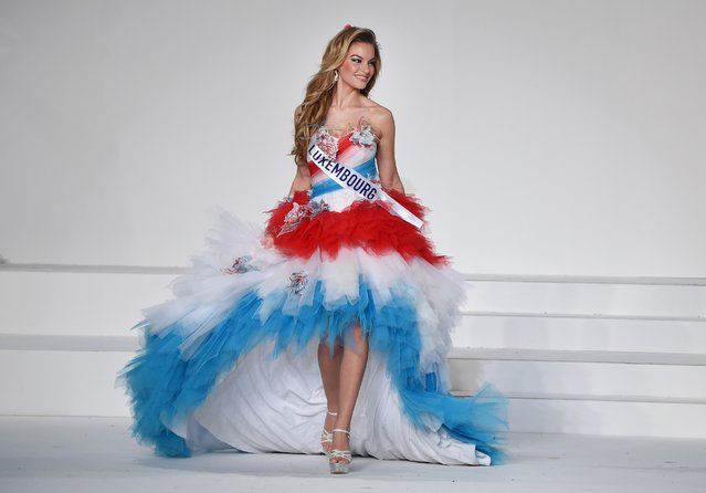 Miss Luxembourg Natascha Bintz displays her national costume during the Miss International beauty pageant in Tokyo on November 5, 2015. (Photo by Toru Yamanaka/AFP Photo)