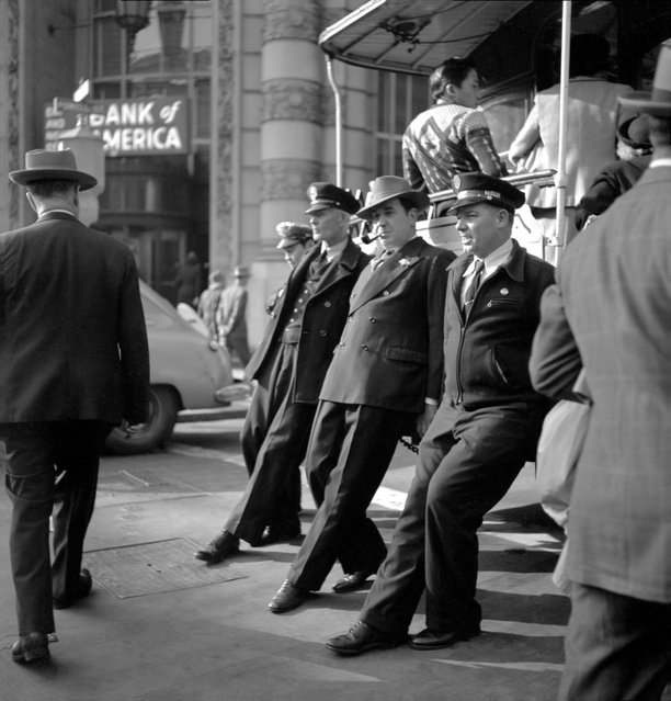 Cable Car Turnaround, San Francisco, 1946. (Photo by Fred Lyon)