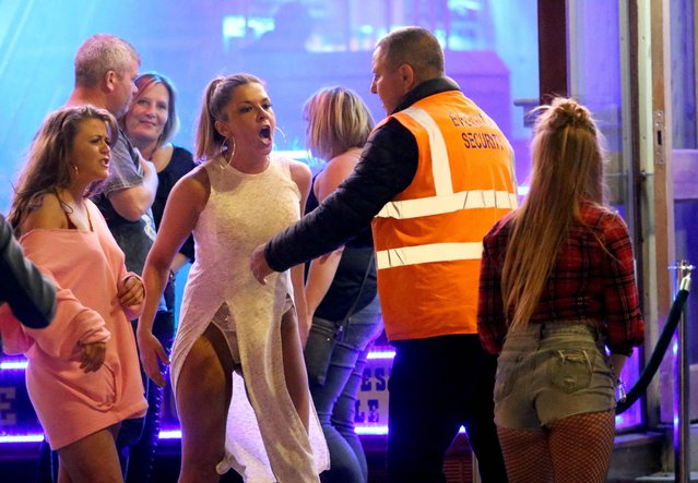 Revellers in Blackpool kept the bank holiday party going on May 30, 2018, taking full advantage of the warm weather and long weekend to let rip. The bank holiday booze up continued across Britain with one party-goer managing to accidentally flash her knickers in public. A bank holiday is a public holiday in the United Kingdom and some Commonwealth countries. (Photo by NB Press Ltd/The Sun)