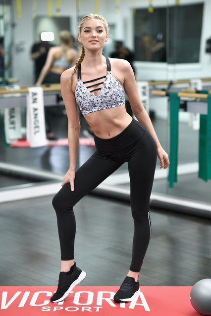 Victoria's Secret hosts Train Like An Angel with Elsa Hosk at Flex Noho on November 9, 2016 in New York City. (Photo by Dimitrios Kambouris/Getty Images for Victoria's Secret)