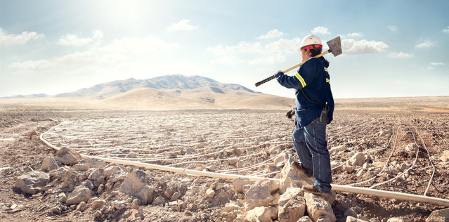 Carol Warn, a leach pad operator at the Marigold Mining Company in Valmy, Nevada. (Photo by Chris Crisman/The Guardian)
