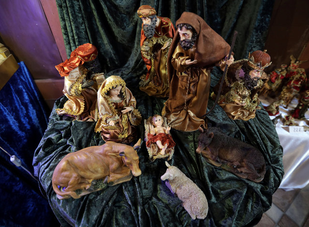 A Nativity scene is seen in Saint Pierre chapel in  the medieval mountain village of Luceram as part of Christmas holiday season, France, December 15, 2016. (Photo by Eric Gaillard/Reuters)
